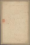 Letter to Benjamin Harrison, Speaker of the House of Delegates