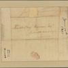 Letter to Benjamin Harrison, Speaker of the House of Delegates, Staunton