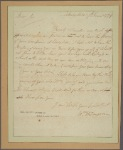 Letter to Henry Laurance [Laurens], Charles Town