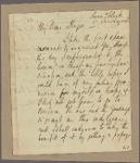 Letter to Major [Augustin] Prevost