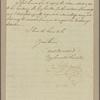 Letter to Lieut. Gen. [Alexander] Leslie