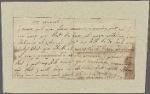 Letter to [Gen. Benjamin Lincoln?]