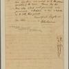 Letter to [Henry Laurens, Philadelphia.]