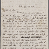 Autograph letter signed to Lord Byron, 28 April 1818