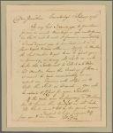 Letter to Jonathan Mifflin, Philadelphia