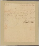 Letter to [Thomas Johnson.]