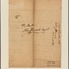 Letter to John Hancock