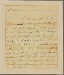 Letter to Gov. [Robert Hunter] Morris [Philadelphia]