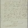 Letter to Col. [Charles] Pettitt