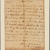 Letter to Gen. [Horatio] Gates