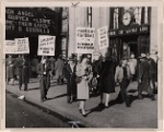 Picketers outside Empire City Savings Bank, 231 West 125th Street, Harlem