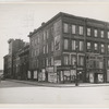 Boarded residential building on the corner of Madison Avenue and East 133rd Street, Harlem, New York City, 1938