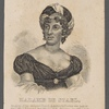 Madame de Stael, daughter of the celebrated French financier, M. Necker, was born at Paris MDCCLXVI and died MDCCCXVII. She was one of the most distinguished female writers that has lived.