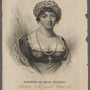 Baroness de Stael Holstein. Frontispiece to the seventh volume of The new Monthly magazine