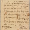 Letter to Samuel Galloway, Annapolis