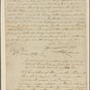 Letter to Gen. [Lachlan] McIntosh, Savanna, Ga.