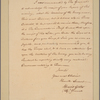 Letter to Gen. [John] Thomas