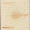 Letter to Gen. [Philip] Schuyler, Saratoga