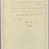 Letter to Gov. [Benjamin] Harrison