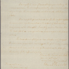 Letter to [James Bowdoin,] Governor of Massachusetts