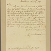 Letter to Benjamin Huntington, Norwich [Conn.]