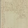 Letter to Gov. [George] Clinton, Poughkeepsie [N. Y.]