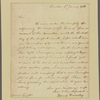 Letter to Gov. William Livingston, Elizabethtown