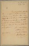 Letter to Thomas Mifflin, Governor of Pennsylvania