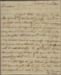 Letter to Horatio Gates, Traveller's Rest, Berkley County, Va.