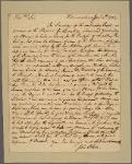 Letter to Benjamin Harrison, Governor of Virginia