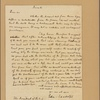 Letter to [George Washington] The President of the U. S.