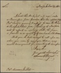 Letter to Marinus Willet