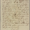 Letter to E[lias] H[asket] Derby, [Salem, Mass.]