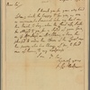 Letter to [James] Iredell [New York?]