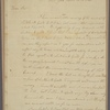 Letter to [Joseph Clay, Savannah, Ga.]