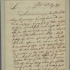 Letter to Gov. Thomas Mifflin, Philadelphia