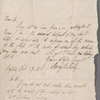 Autograph letter signed to Charles Ollier, 27 February 1819