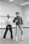 Jerome Robbins rehearsing Other Dances with Mikhail Baryshnikov