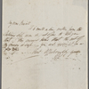 Autograph letter signed to Maria and John Gisborne, 14 December 1819