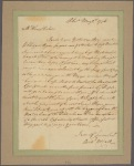 Letter to Henry Fisher, Lewis Town
