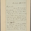 Letter to H[enry] S[tephens] Randall, Albany [N. Y.]