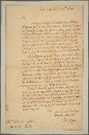 Letter to [Cadwallader] Colden
