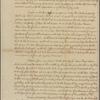 Letter to James Hamilton Governor of Pennsylvania