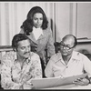 Hal Linden, Barbara McNair and Baron Wilson in rehearsal for the 1973 Broadway revival of The Pajama Game