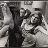Woody Allen and unidentified actress in the stage production Play It again, Sam.