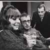 Diane Keaton, Woody Allen, and Jerry Lacey in the stage production Play It Again, Sam.