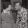 Angela Thornton and Noel Coward in the 1958 Broadway revival of Present Laughter