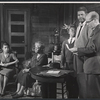 Ruby Dee, Claudia McNeil, Glynn Thurman, Ossie Davis, and John Fielder in the stage production A Raisin in the Sun