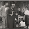 Sidney Poitier, Claudia McNeil, Ruby Dee, Glynn Thurman, and Diana Sands in the stage production A Raisin in the Sun.