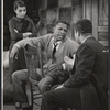 Ruby Dee, Sidney Poitier, and unidentified actor in the stage production A Raisin in the Sun